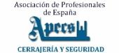 Logotipo de Asociación de Profesionales de España en Cerrajería y Seguridad - Miembro de European Locksmith Federation (APECS)