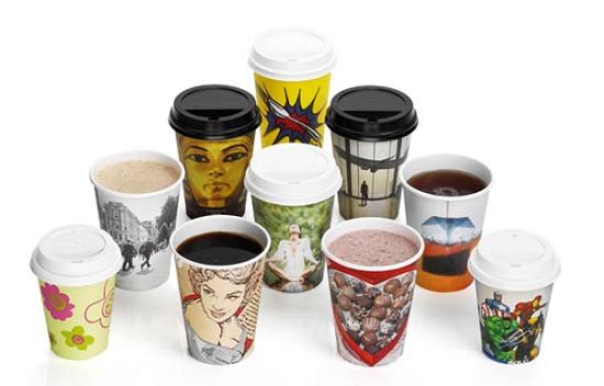 Foto de Vasos reciclabes de un solo uso