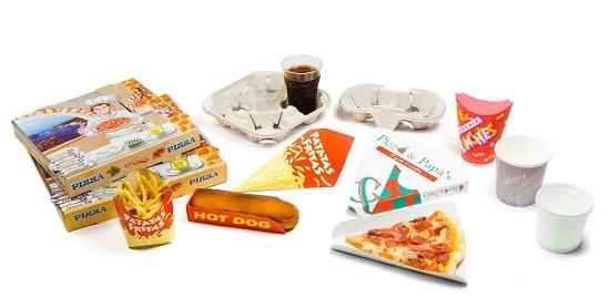 Foto de Envases de cartón para comida rápida