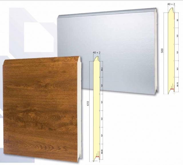 Paneles Para Puertas Seccionales Securwall Swl 500 610 Construcción Materiales Paneles Para Puertas Seccionales