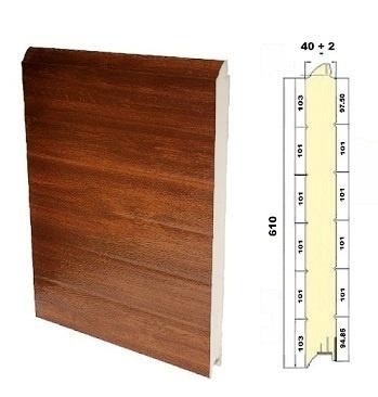 Paneles para puertas seccionales securwall swlm 500 610 - Paneles imitacion madera ...