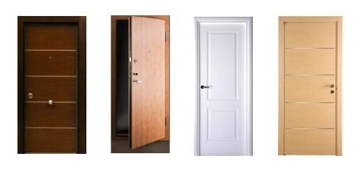 Puertas de madera materiales para la construcci n for Tipos de puertas de madera