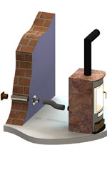 Foto de Chimeneas de simple pared