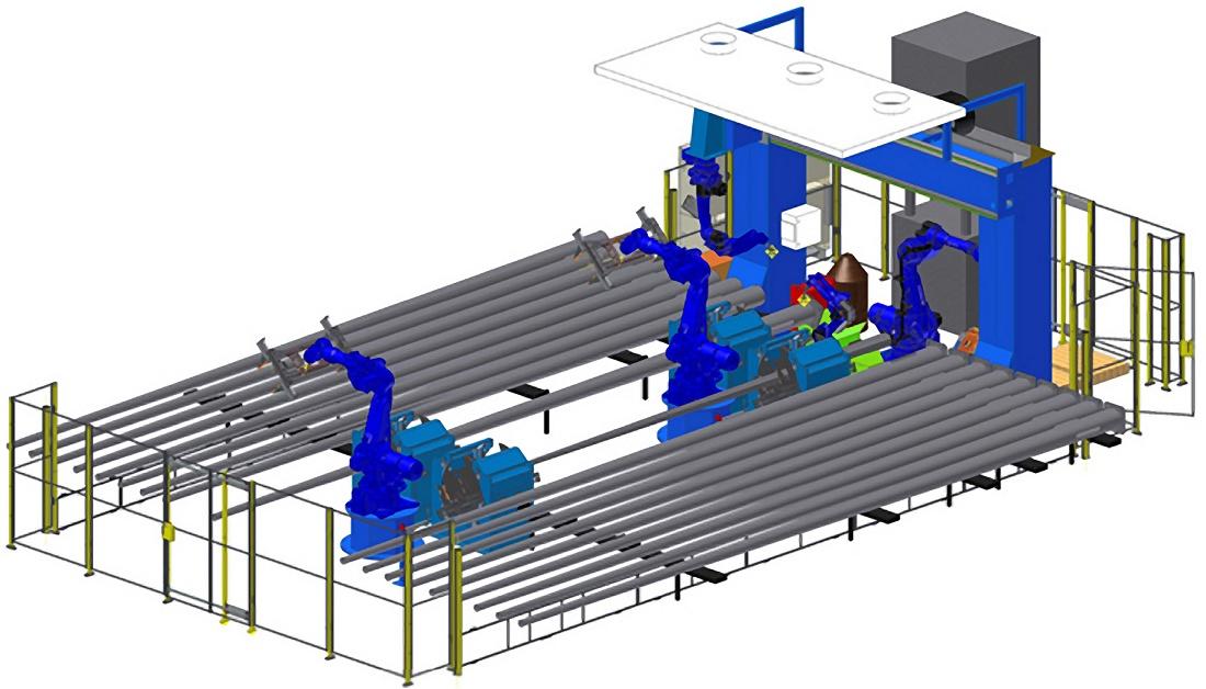 Foto de Solución robotizada para el corte y soldadura de postes de alumbrado
