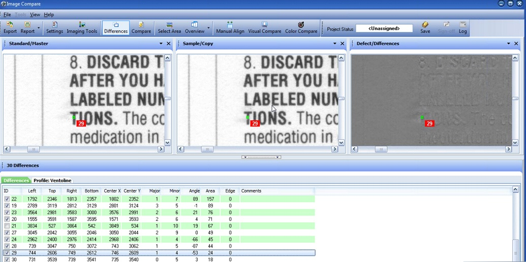 Software for data inspection Complete Inspection Systems