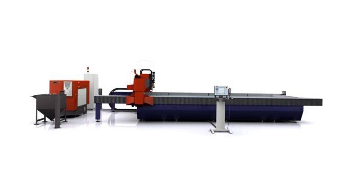 Foto de Sistema de corte por chorro de agua