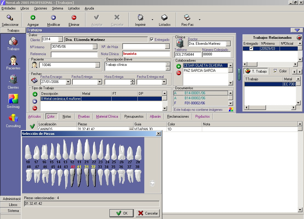 Foto de Software de gestión para laboratorios de prótesis dental