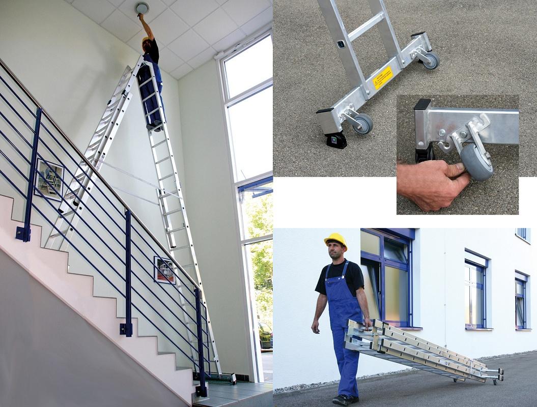 Escaleras de tijera extensibles wak obras p blicas for Escaleras extensibles
