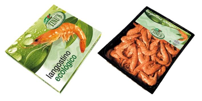 Foto de Langostinos cocidos ecológico refrigerado