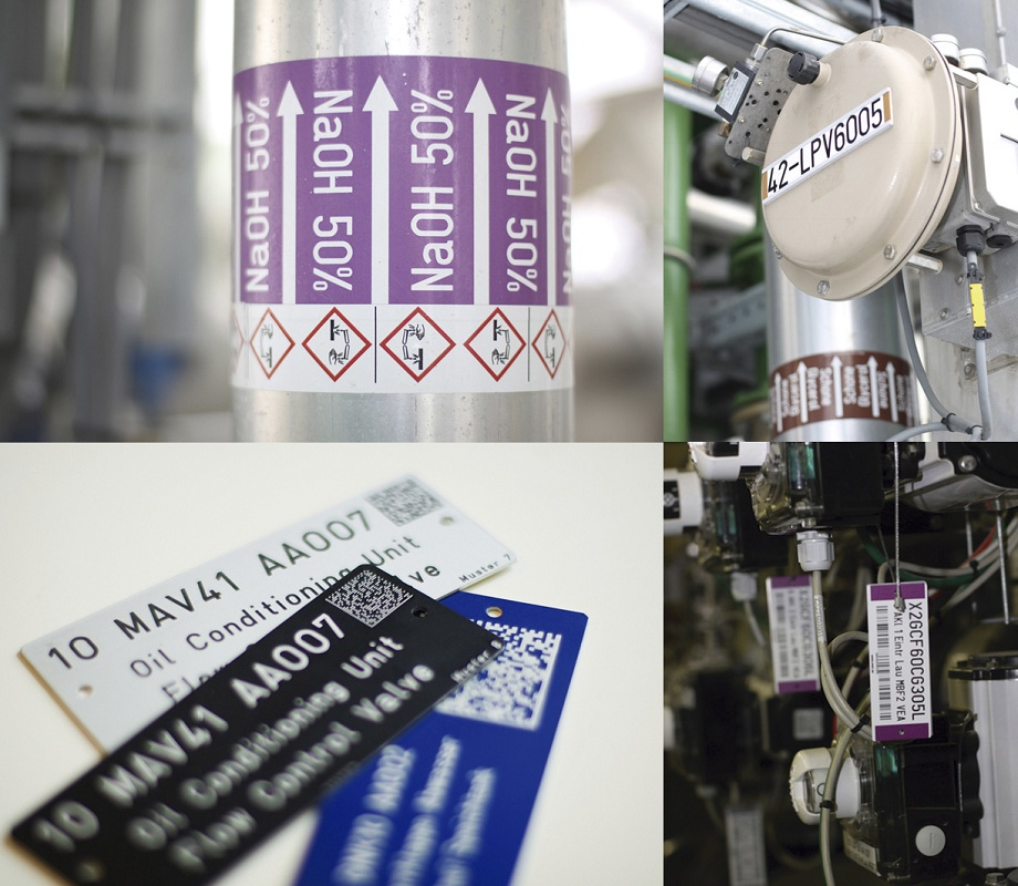 Foto de Placas de identificación de equipos industriales