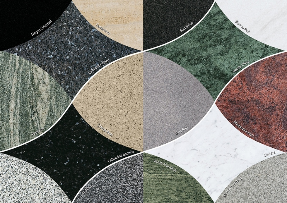 M rmoles y granitos folch equipamiento urbano m rmoles for Clases de marmoles y granitos
