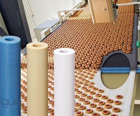 Foto de Rodillos de plástico para cintas transportadoras