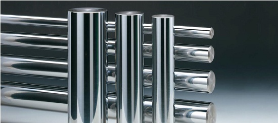 Foto de Barras y tubos de acero cromado