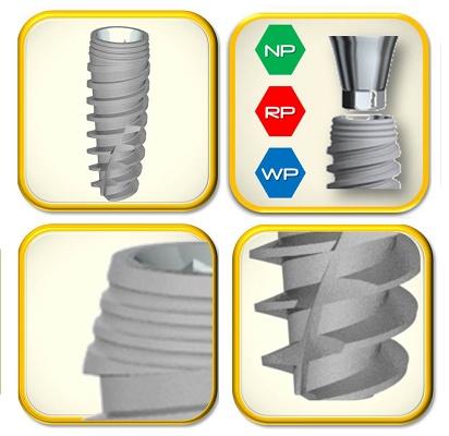 Foto de Implantes cónicos con doble espiral