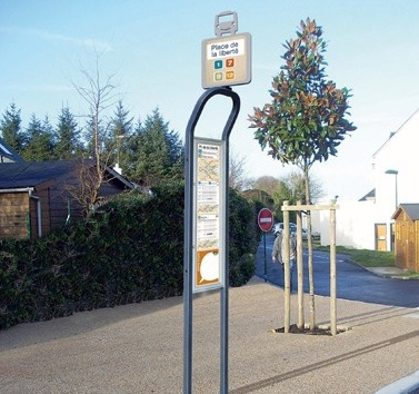 Foto de Poste de parada de autobús