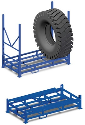 Foto de Jaulas y contenedores para neumáticos