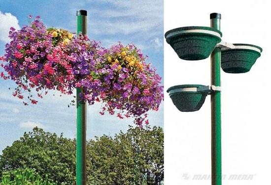 Foto de Jardineras adaptables sobre postes