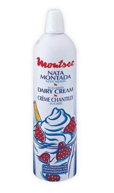 Spray de nata montada congelada montsec distribuci n - Nata liquida para postres ...