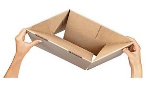 Foto de Caja de cartón con fondo automático