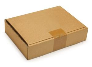 Foto de Caja postal marrón para productos planos