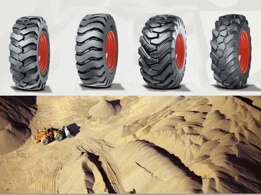 Foto de Neumáticos diagonales muevetierras