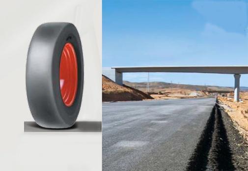 Foto de Neumáticos especial rodillos