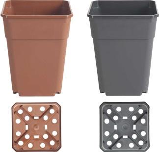 Foto de Macetas de plástico cuadradas