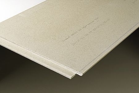 Fotografia de Plaques de guix amb fibres