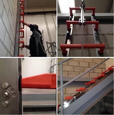 Foto de Escaleras de pates de polipropileno para usos intensivos y agresivos