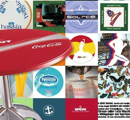 Foto de Tableros de mesa con logotipo
