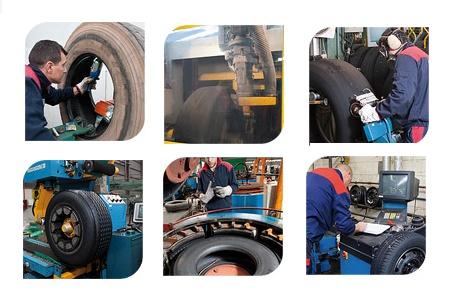 Foto de Proceso de renovado o recauchutado del neumático