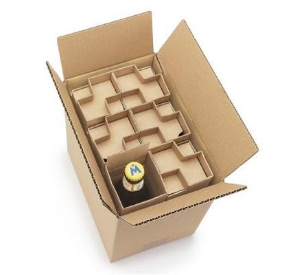 Foto de Caja para expedición de botellas de 33 cl