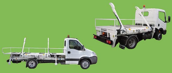 Foto de Equipo para el transporte de contenedores de basura