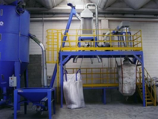 Foto de Sistema de limpieza y separación de polvo