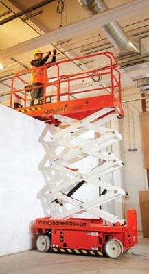 Foto de Plataforma elevadora de tijera eléctrica