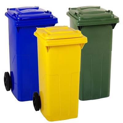 Foto de Contenedores basureros de 120 litros con tapa
