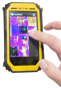 Foto de Cámara térmica con formato tablet