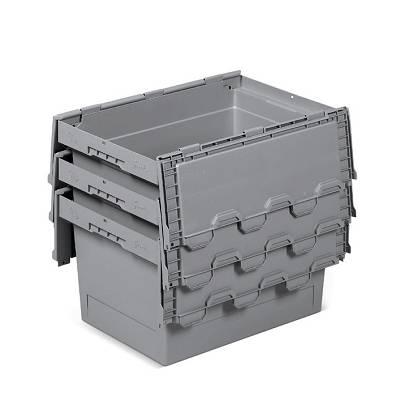 Foto de Cajas de plástico apilables y encajables