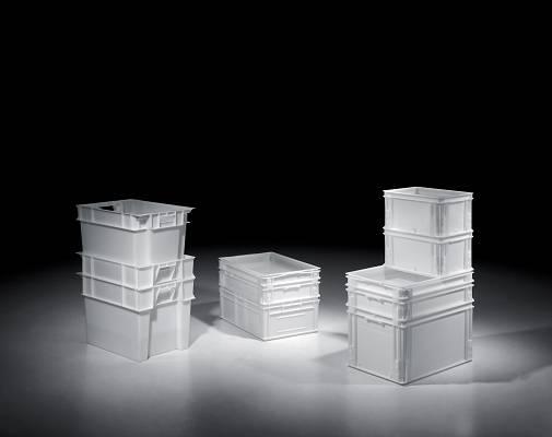 Foto de Cajas de plástico apilables para alimentos