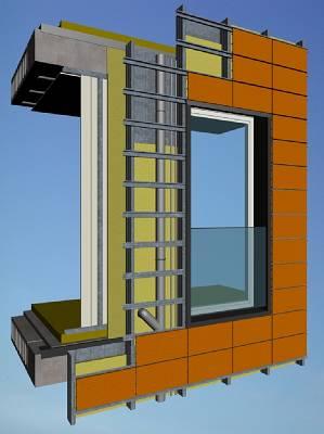 Fachada ventilada eurohabitat materiales para la - Materiales para fachada ...