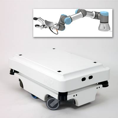 Foto de Robot autodesplazable con pinza colaborativa