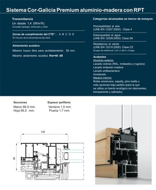 Foto de Sistema cor-galicia premium aluminio-madera con rpt