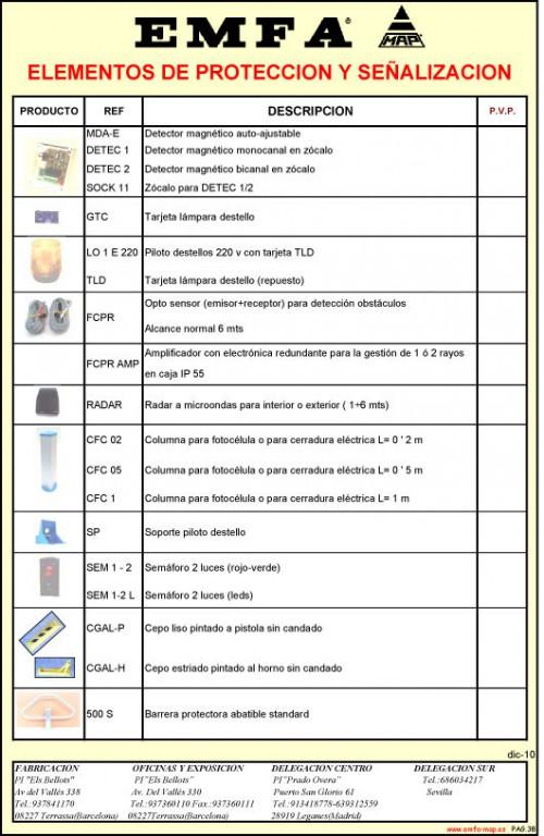 Foto de Elementos de protección y señalización