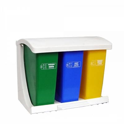 Foto de Ecopunto contenedor selectivo con tapa y pedal