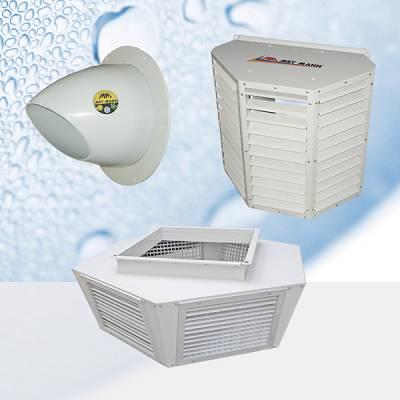 Foto de Difusores de gran caudal de aire para climatizadores evaporativos