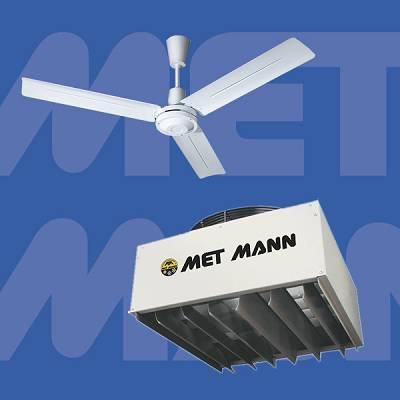 Foto de Ventiladores de techo recuperadores de calor y ventilación en verano