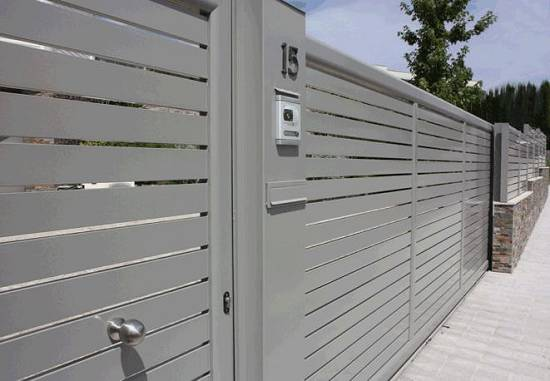 Puertas de jard n met l liques grabalosa materiales para - Puertas metalicas jardin ...