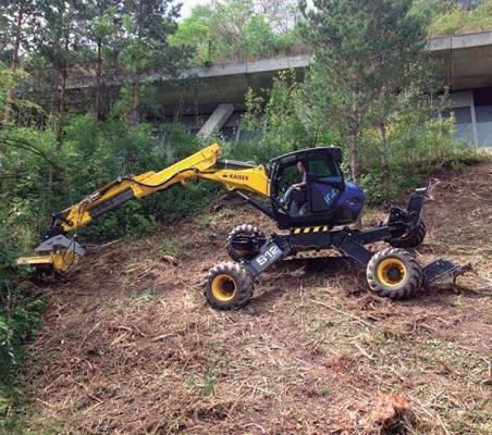 Foto de Excavadoras arañas o retroarañas para uso forestal