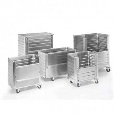 Foto de Carros de aluminio con paredes nervadas