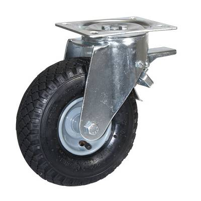 Foto de Ruedas con núcleo en acero estampado y cubierta neumática con rodamientos